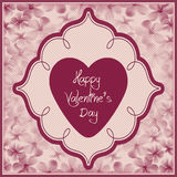 Valentine day card - floral collection Stock Photo