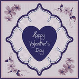 Valentine day card - floral collection Royalty Free Stock Image
