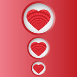 Valentine day card with heart in circle banner Royalty Free Stock Image