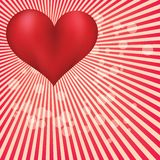 Valentine day card with huge red heart Royalty Free Stock Images