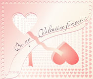 Valentine day card Royalty Free Stock Image