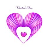 Valentine day card template with heart. Vector Royalty Free Stock Photography