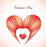 Valentine day card template with heart. Vector Stock Photos