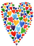 Valentine day card. Watercolor heart Valentine day card Royalty Free Stock Images