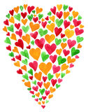 Valentine day card. Watercolor heart Valentine day card Royalty Free Stock Photography