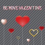 Valentine Day Card whit Hearts. Stock Photography
