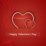Valentine Day Card whit Hearts. Royalty Free Stock Photography