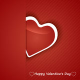 Valentine Day Card whit Hearts. Royalty Free Stock Images