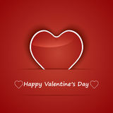 Valentine Day Card whit Hearts. Stock Image
