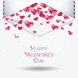 Valentine day cards design with hearts Stock Photos