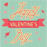 Valentine day cards template vector. Royalty Free Stock Image