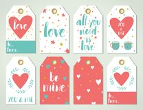 Valentine Day Cards Royalty Free Stock Photography