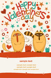 Valentine day cats Stock Photos
