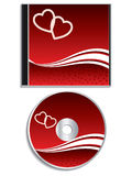 Valentine day cd cover design Royalty Free Stock Photos