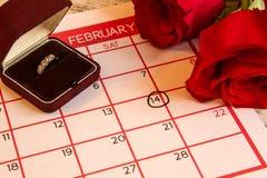 Valentine Day. Celebrating romanceand happyness Stock Photography