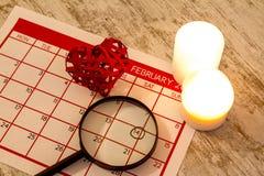 Valentine Day. Celebrating romance together Stock Photos