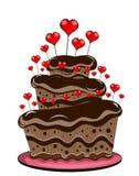 Valentine Day Chocolate Cake Stock Photo