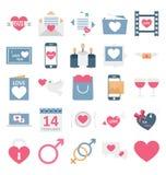 Valentine Day Color Vector Icons a placé qui peut être facilement modifié ou édité illustration libre de droits