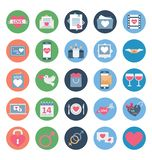 Valentine Day Color Vector Icons Set that can be easily modified or edit. royalty free illustration