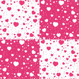 Valentine Day and colorful Heart on white and pink pattern. Vector Valentine Day Background. Stock Photos
