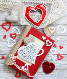 Valentine day composition Royalty Free Stock Image