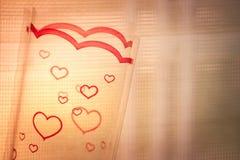 Valentine Day Concept felice Fotografia Stock Libera da Diritti
