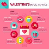 Valentine Day Concept Infographics Immagini Stock Libere da Diritti