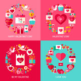 Valentine Day Concepts Set illustrazione vettoriale
