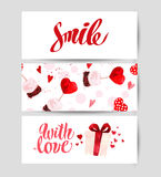 Valentine day congratulation memory card design. Royalty Free Stock Photography