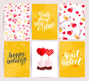 Valentine day congratulation memory card design. Stock Photo