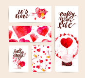Valentine day congratulation memory card design. Royalty Free Stock Photos