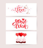 Valentine day congratulation memory card design. Royalty Free Stock Images