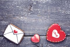 Valentine day cookies royalty free stock images