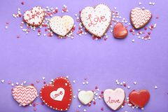 Valentine day cookies royalty free stock image