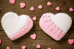 Valentine day cookies Stock Photography