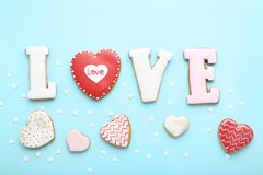 Valentine day cookies royalty free stock photo