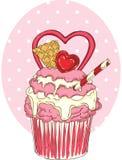 Valentine Day Cupcake stock abbildung