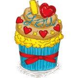 Valentine Day Cupcake vektor abbildung