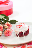 Valentine Day Cupcake Royalty Free Stock Photo