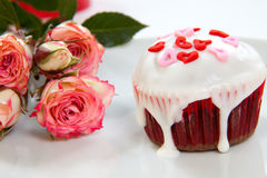 Valentine Day Cupcake Royalty Free Stock Photos