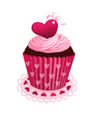 Valentine day cupcake Royalty Free Stock Image