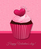 Valentine day cupcake Royalty Free Stock Photography