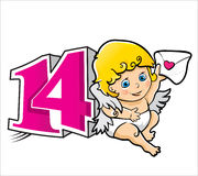 Valentine Day Cupid Stock Images