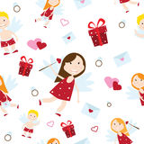 Valentine Day cupid angel cartoon style vector illustration Royalty Free Stock Image