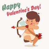 Valentine Day cupid angel cartoon style vector Stock Photo