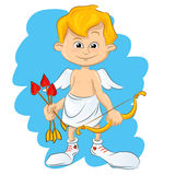 Valentine Day cupid angel Stock Image