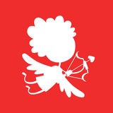 Valentine Day cupid angel cartoon style vector Stock Photography