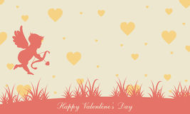 Valentine day with cupid background. Vector illustration Royalty Free Stock Image