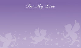 Valentine day with cupid backgrounds. Vector art Royalty Free Stock Photos