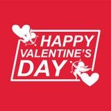 Valentine Day Cupid Heart Vector bild Royaltyfria Bilder